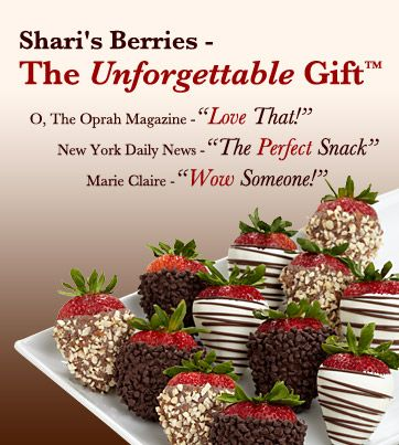 Chocolate Covered Strawberries, Chocolates, Cupcakes Delivered by Shari's Berries Yummy