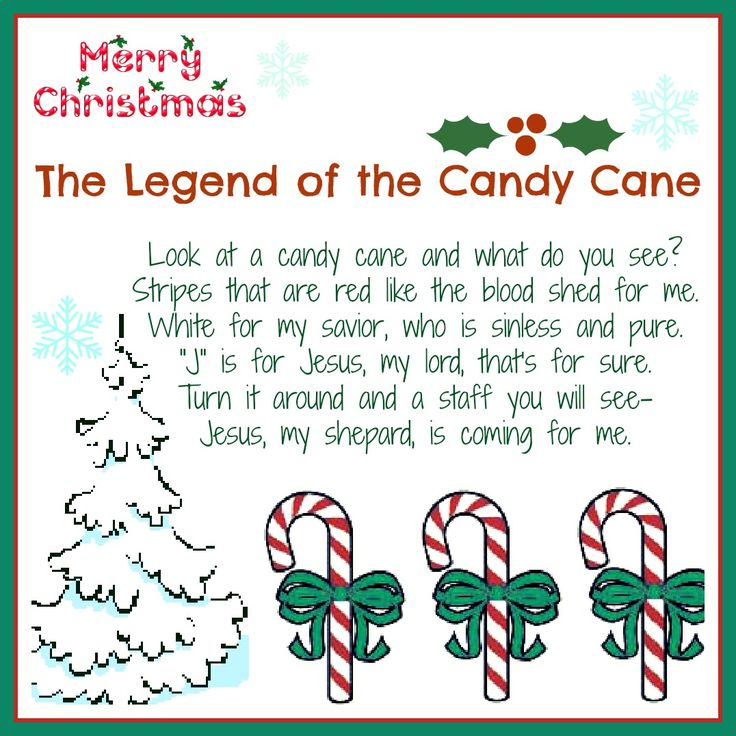 meaning of the candy cane poem | The Legend of the Candy Cane: Free Printable and a Giveaway! - Daily ...