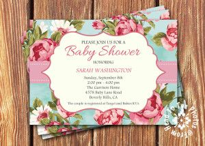 81 best baby shower girl printable images on pinterest baby shower shabby chic baby shower invitations by fromheadtotoedesigns filmwisefo Gallery