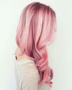 Pink hair.                                                                                                                                                                                 More
