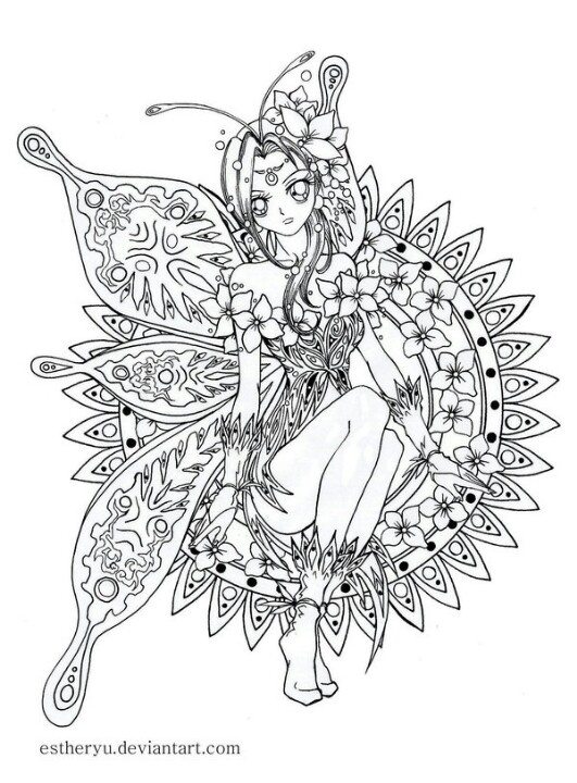 168 best Fairy coloring pages images on Pinterest Coloring books