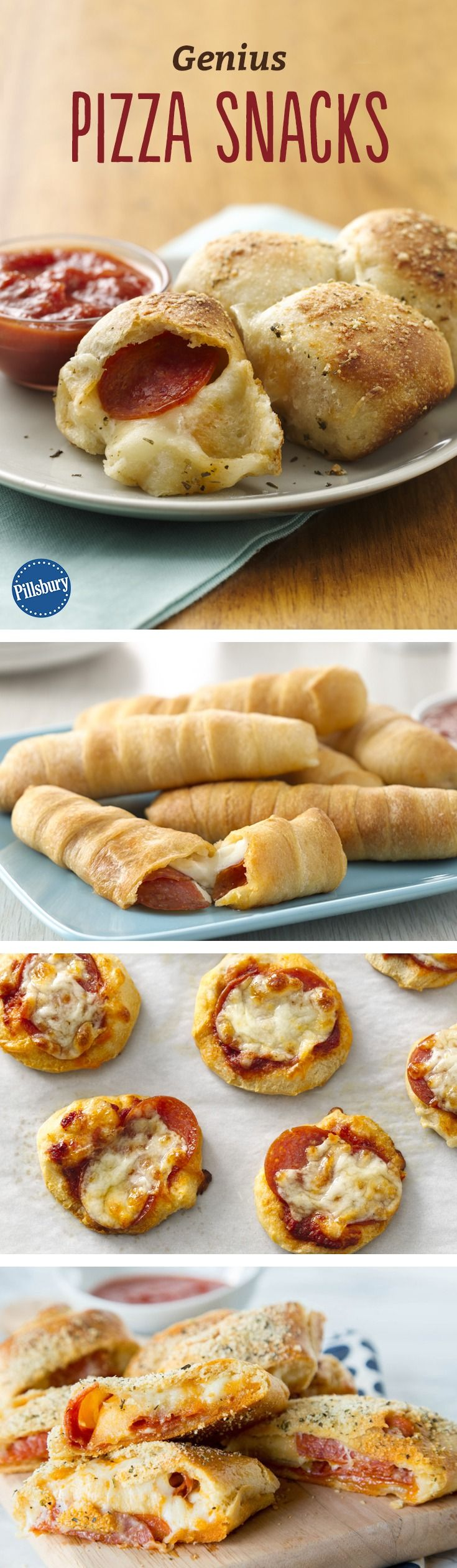 Genius Pizza Snacks - Why wait until dinner? These cheesy, bite-sized eats are perfect for getting your pizza fix.