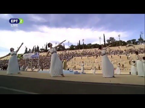 """Η τελετή παράδοσης της Ολυμπιακής Φλόγας """"Ρίο 2016"""" στο Καλλιμάρμαρο (27..."""