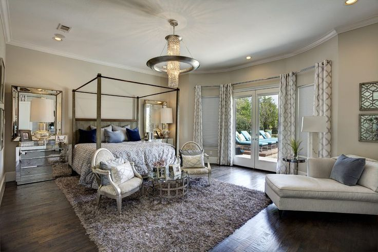 Contemporary floor mirrors bedroom mediterranean with off-white daybed upholstered fauteuil armchairs contemporary wood floor
