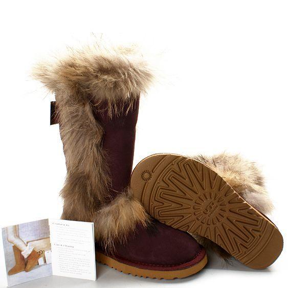 UGG Foxfur Boots 8686 Maroon  http://uggbootshub.com/wholesale-ugg-boots-ugg-foxfur-boots-c-1_30.html