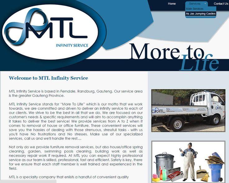WEBSITE DESIGN >> MTL Infinity Service (Randburg - Joburg)