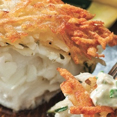 Potato-crusted Halibut