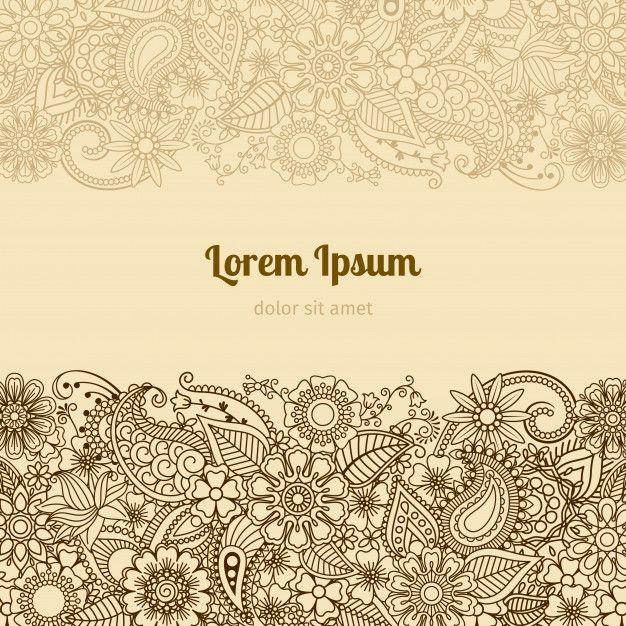 Henna Mehndi Card Template Flower Henna Henna Mehndi Card Template
