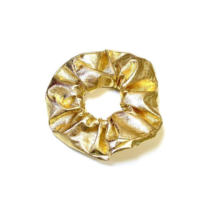 Kelly Dempsey design- gold scrunchie