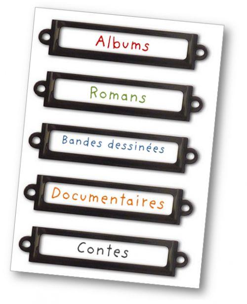 Etiquettes bibliothèque