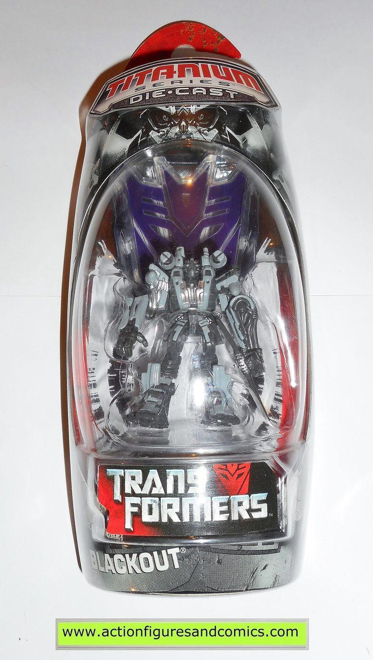 Transformers Titanium BLACKOUT movie 2007 hasbro toys action figures moc mib mip