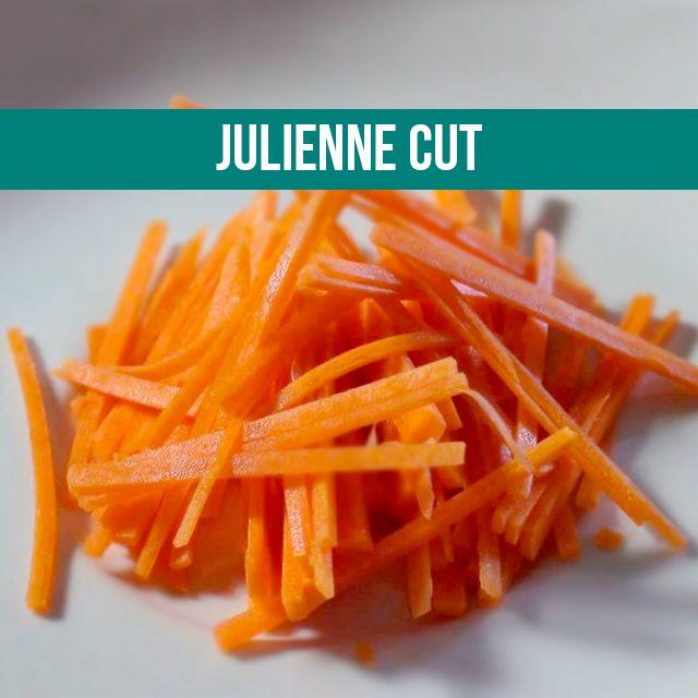 Julienne Cut Cutting Veggies Cooking Different
