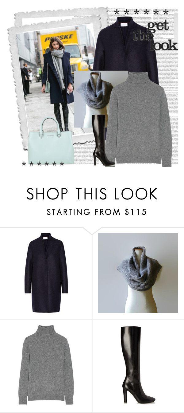 """Get the look"" by marianaypaula on Polyvore featuring moda, Harris Wharf London, Equipment, Yves Saint Laurent y MICHAEL Michael Kors"
