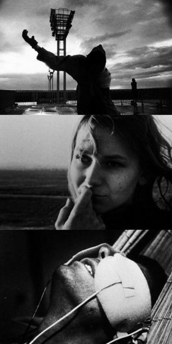 La Jetée, #French science-fiction drama  Time travel, still images, a past, present and future and the aftermath of World War III. The tale of a man, a slave, sent back and forth, in and out of time, to find a solution to the