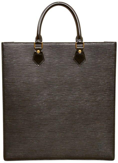 b1a4ff685691 Louis Vuitton Sac Plat Gm Large Size M59082 Shopper Black Epi Leather Tote  - Tradesy