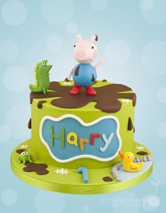 George Pig Cake - Cake by Little Cherry