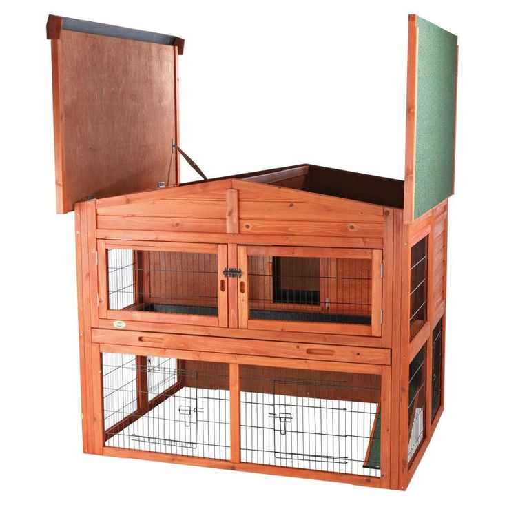 TRIXIE 4.4 ft. x 3.7 ft. x 3.8 ft. Extra-Large Rabbit Hutch-62324 - The Home Depot