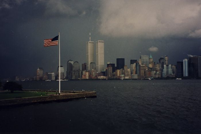 The Twin Towers in New York City Sept. 10, 2001 The day before Islamic Jihad Terrorists destroyed them.