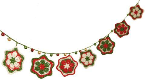 Cómo tejer una guirnalda de estrellas navideña hechas a partir de la flor africana a crochet (crochet african flower star)!