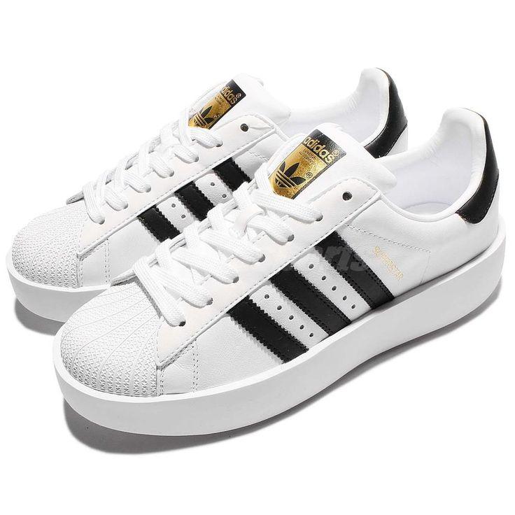 adidas Originals Superstar Bold Platform W White Gold Women Classic Shoes  BA7666