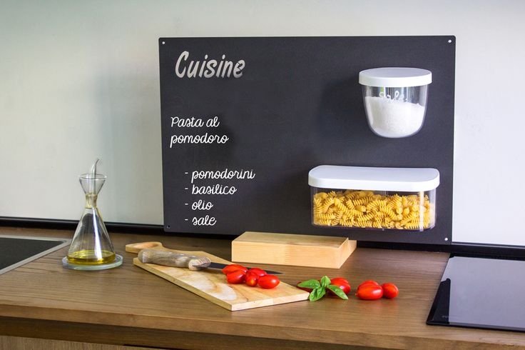 CUISINE - KITCHEN KIT   Fresh ingredients and right quantities are the most important things to prepare a lovely meal. Attach everything in front of your hob and when you finish wash the pots in the dishwasher. They will be ready to store the ingredients for the next recipe.