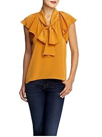 i have a thing for anything that is mustard yellow, including this blouse.