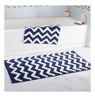 Lavish Home 2-pc. Chevron Bathroom Mat Set