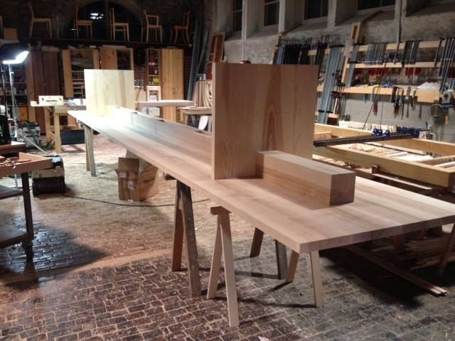 EDI table by Claesson Koivisto Rune for NIKARI being manufactured in their factory in Fiskars, Finland.