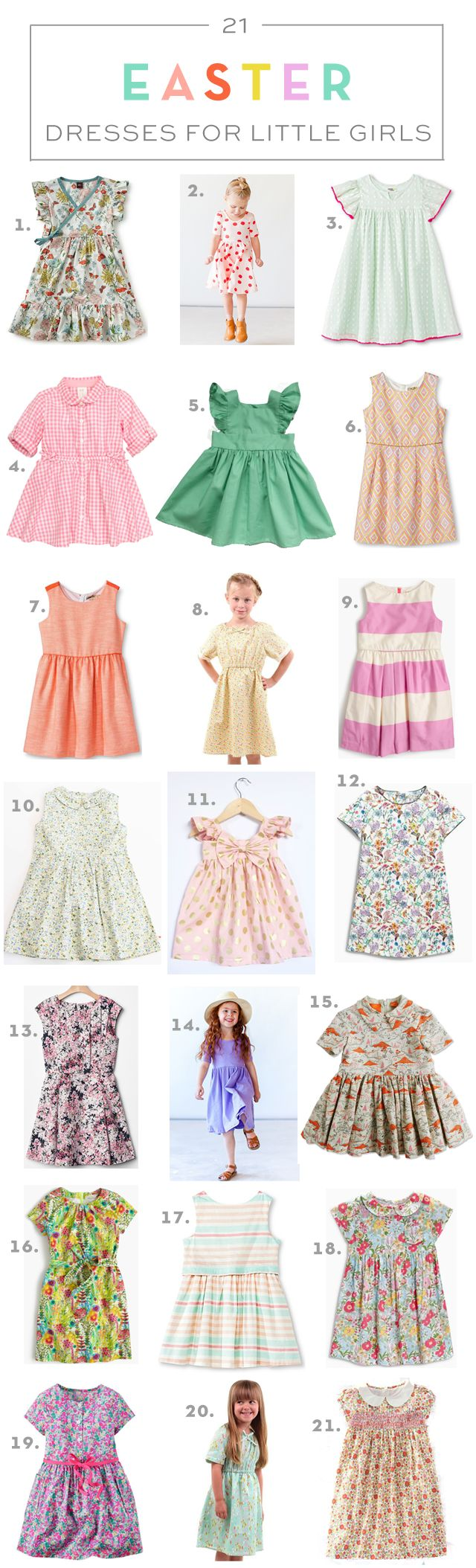 21 Easter Dresses for Little Girls // via armelleblog.com