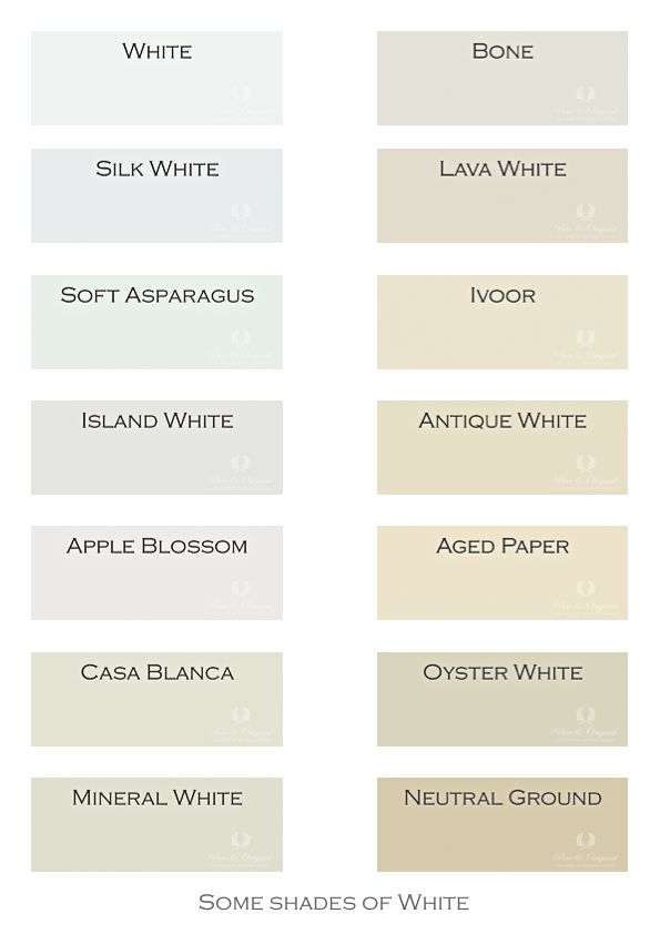 Next to the colors of grey and blue now a selection of for Grey white paint colors