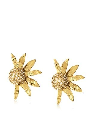 12% OFF Yves Saint Laurent Half Sunflower Clip-On Earrings