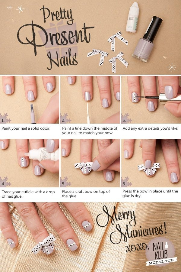 Presenting a holiday present-inspired manicure! #nailklub