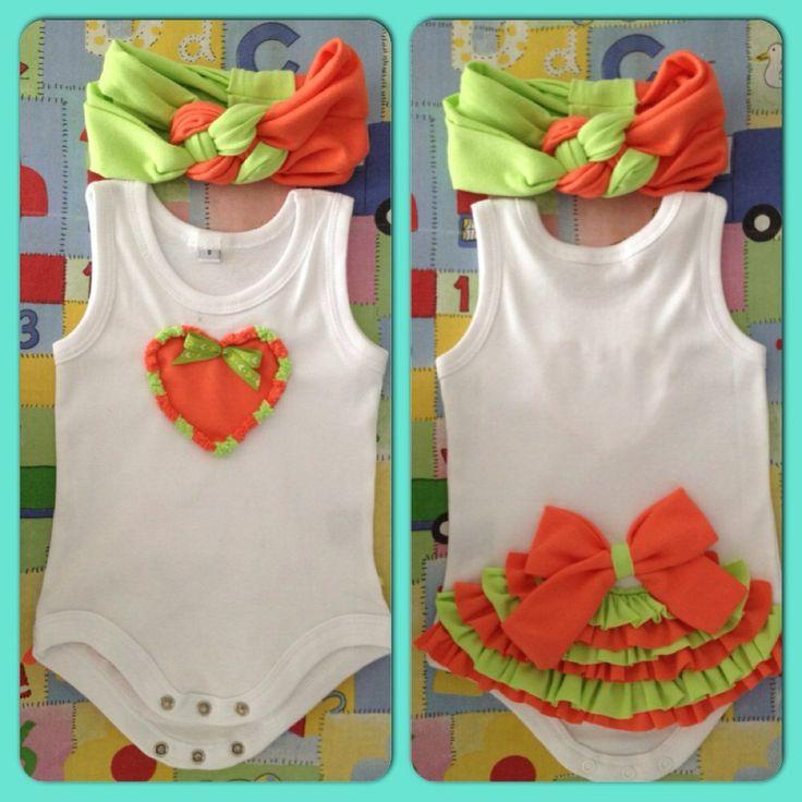 Bodys, Camisetas Y Turbantes Para Bebes, Niñas Y Mamitas - BsF 250,00 en MercadoLibre
