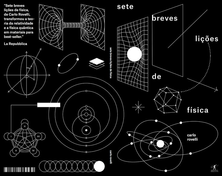 """Mateus Acioli, Cover for book """"Seven Brief Lessons in Physics"""", by Carlo Rovelli. Editora Objetiva, 2016. In partnership with Estudio Margem."""