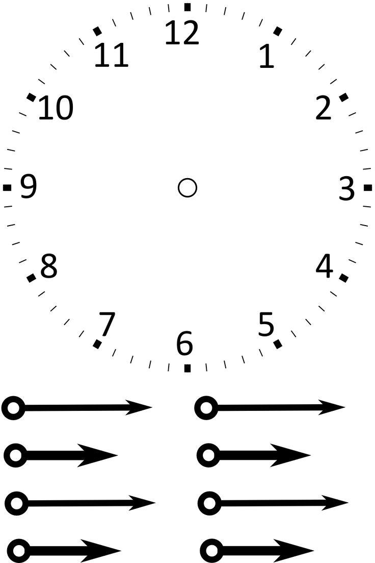Рисунок часов без стрелок