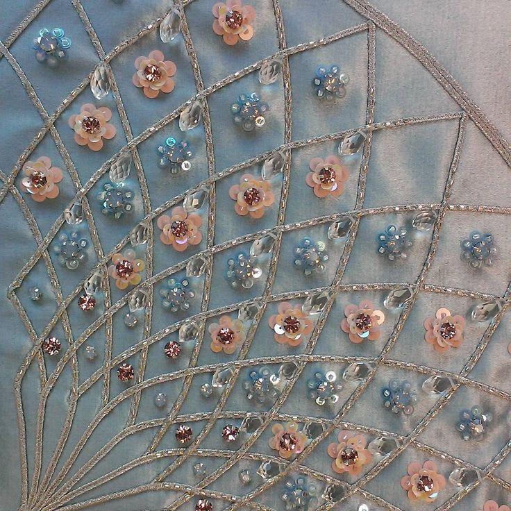 "219 Likes, 1 Comments - SOLOV'YOVA VALERIYA (@embrolucky) on Instagram: ""Фото из архива. Вышитая в ручную деталь сумочки  @ulyana_sergeenko_moscow #embroidery #hautecouture…"""