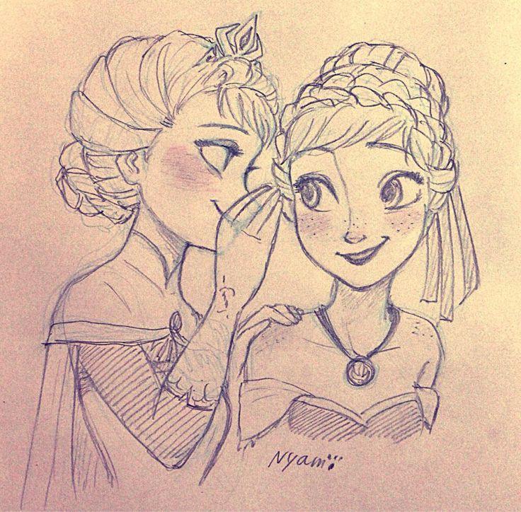 Anna and Elsa   Disney's Frozen