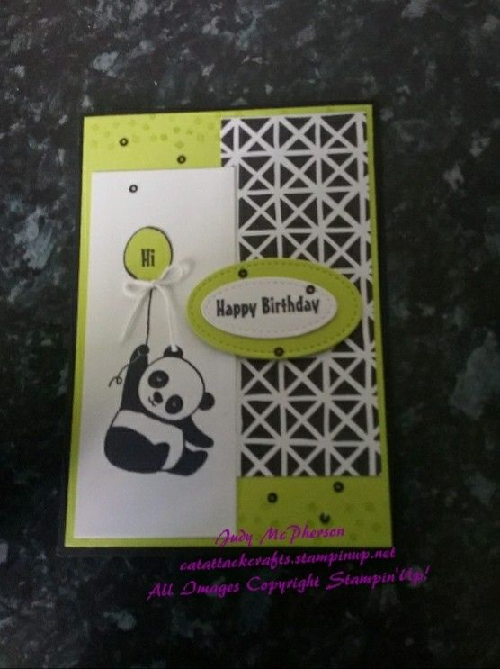 Panda Party SU - sneak peak of stamp set in Sale-a-bration  Catalogue 2018 and Petal Passion DSP