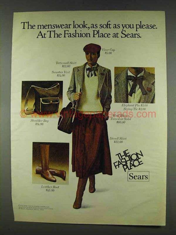 1978 Sears Ad - Visor Cap, Tattersall Shirt, Vest