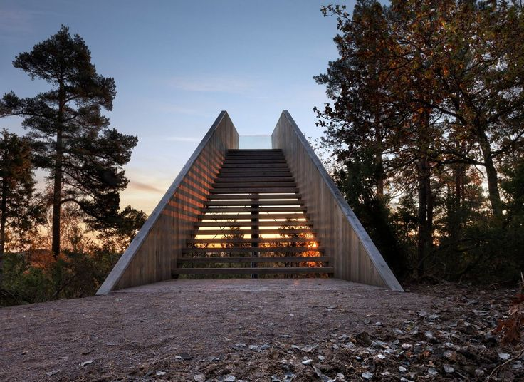 Saunders Architecture,Forest Stair, Stokke, Norvegia, 2012