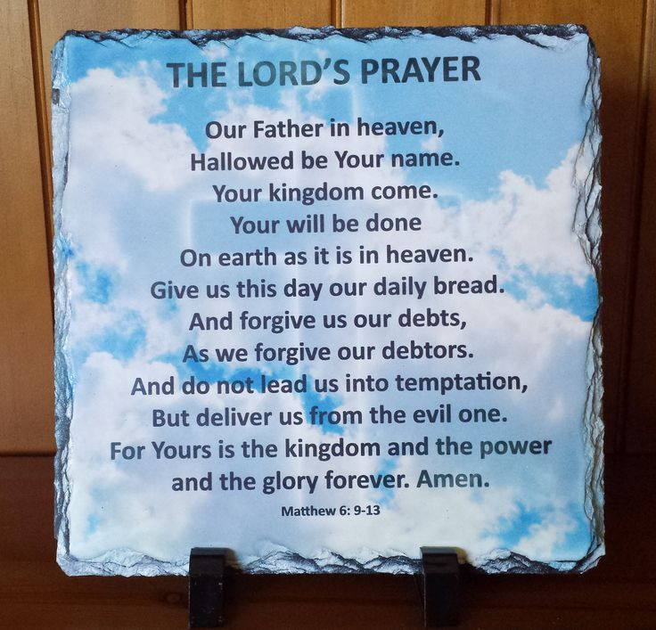 The Lord's Prayer  Handcrafted slate stone plaque with inspirational message, footrests and gift box included.    Limited stock available - http://www.biblestonesaustralia.com.au