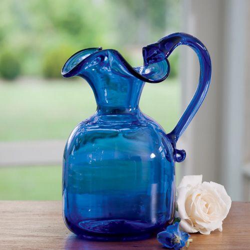 cobalt blue pitcher