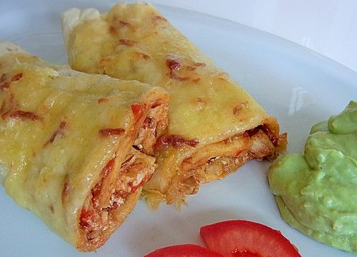 Mexikanische Geflügel - Burritos