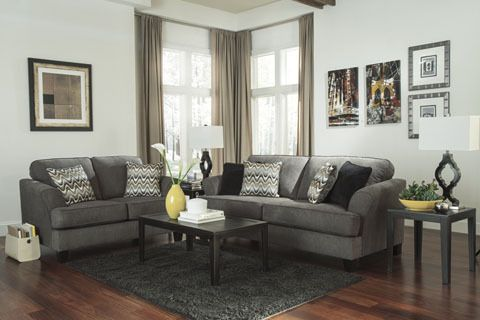 Comox Fabric Loveseat Grey | Pallucci Furniture