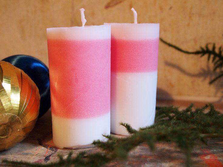 Gar nicht so schwer: Kerzen gießen in Toilettenpapierrollen