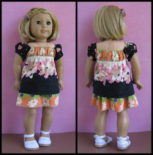 Results of A One Week Challenge!- Five Doll Fashion Pieces from One Junior Top! These turned out adorable!