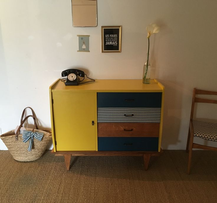 Les 25 meilleures id es concernant bleu jaune sur for Meuble bureau jaune