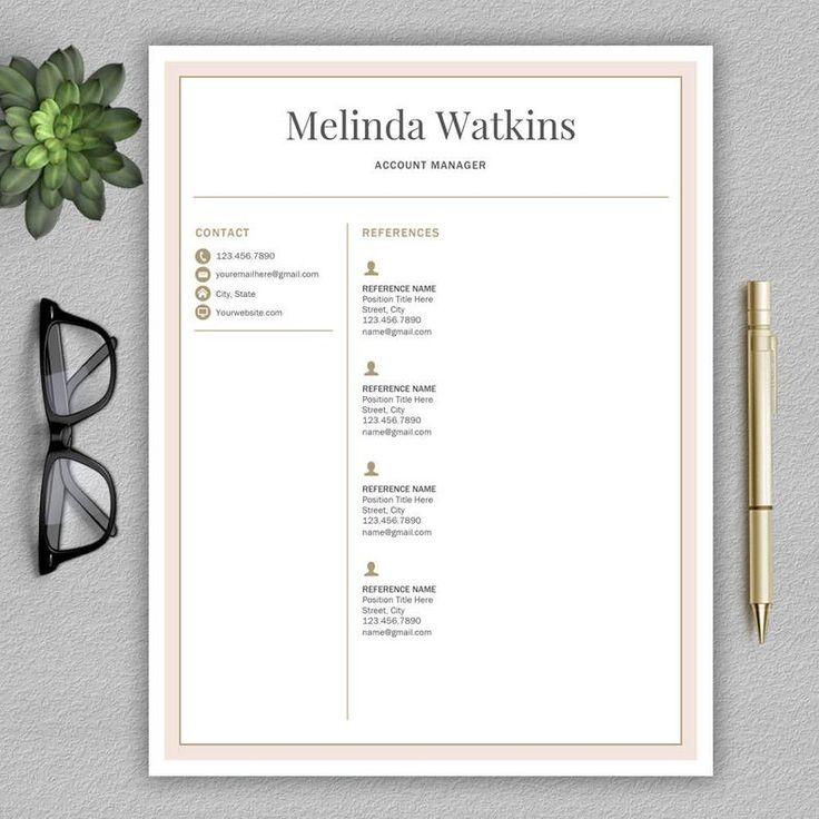 Resume Template / CV Template for Word Lettre de