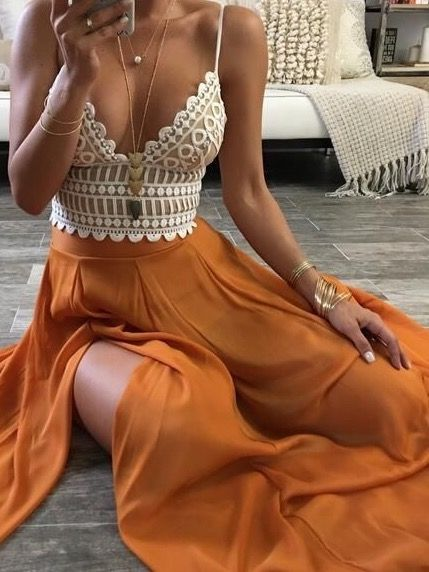 This maxi skirt is so pretty, I want it in white though