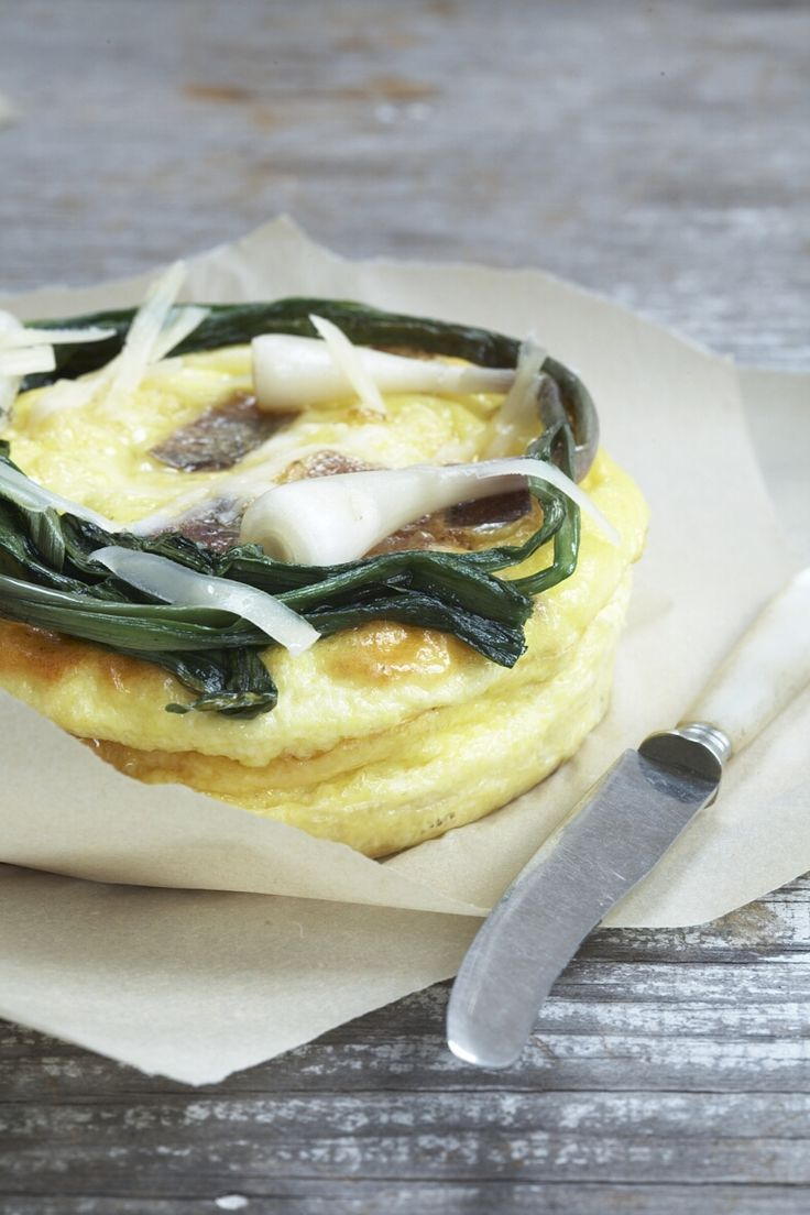Try Mr. Mozie's pancetta with this Spring Onion & Pancetta Frittata